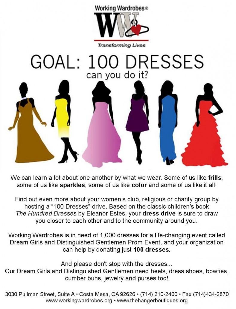 100 dresses flyer